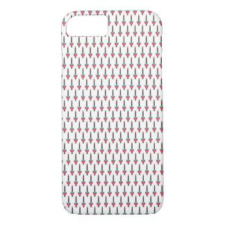 Vintages glühendes Feiertags-Blasen-Licht-Muster iPhone 8/7 Hülle
