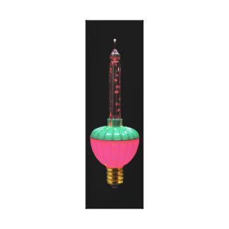 Vintages glühendes Feiertags-Single-Blasen-Licht Leinwanddruck