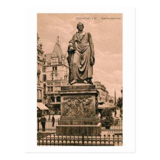 Vintages Goethe Monument Frankfurt Deutschland Postkarte