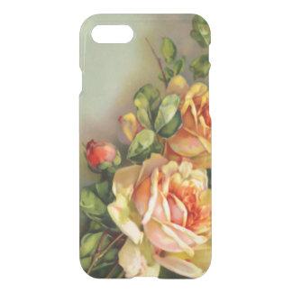 Vintages Gold und erröten Rosen iPhone 8/7 Hülle