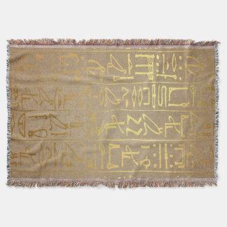 Vintages Goldägyptischer Hieroglyphen-Papier-Druck Decke