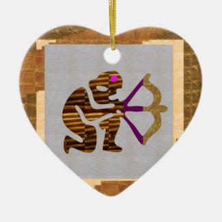 VINTAGES Golderstklassige Geschenke: Pfeil TIPP Keramik Herz-Ornament