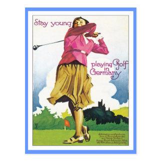 Vintages Golf Deutschland Postkarte
