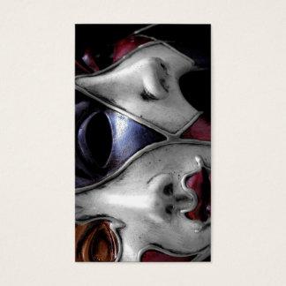 Vintages gotisches Venedig-Maskentheater Visitenkarte