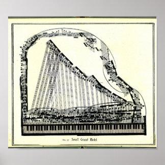 Vintages großartiges Klavier-Plakat