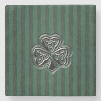 Vintages grundge irisches glückliches Kleeblatt Steinuntersetzer
