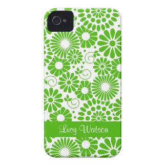 Vintages grünes mit BlumenBlackBerry-mutiger iPhone 4 Cover