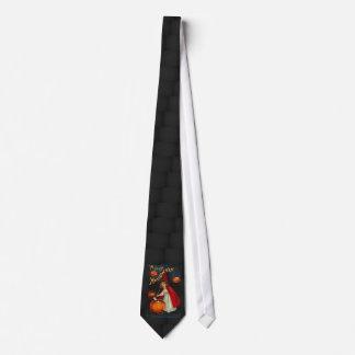 Vintages Halloween-Bild auf einer Krawatte