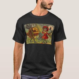Vintages Halloween JOL ERSCHRICKT MÄDCHEN T-Shirt