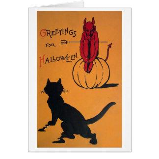 Vintages Halloween Karte