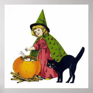 Vintages Halloween-Kind Poster