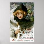 Vintages Halloween-Mädchen Plakat