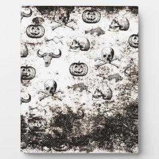 Vintages Halloween-Muster Fotoplatte