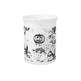 Vintages Halloween-Muster Getränke Pitcher