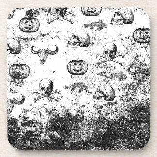 Vintages Halloween-Muster Getränkeuntersetzer