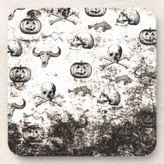 Vintages Halloween-Muster Untersetzer