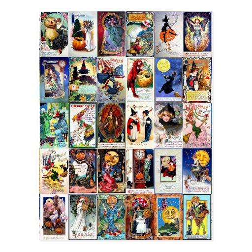Vintages Halloween Postkarten