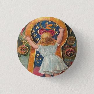 Vintages Halloween Runder Button 2,5 Cm