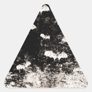 Vintages Halloween-Schlägermuster Dreieckiger Aufkleber