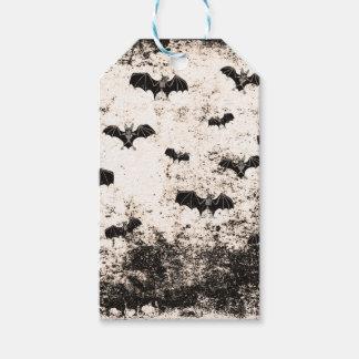 Vintages Halloween-Schlägermuster Geschenkanhänger