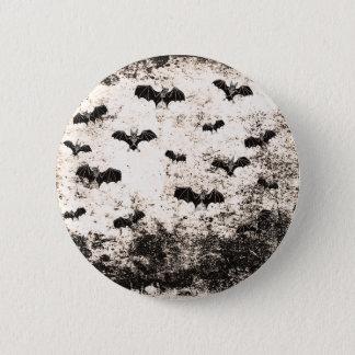 Vintages Halloween-Schlägermuster Runder Button 5,7 Cm