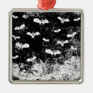 Vintages Halloween-Schlägermuster Silbernes Ornament