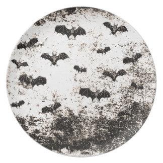Vintages Halloween-Schlägermuster Teller