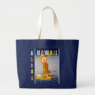 Vintages Hawaii Hula Jumbo Stoffbeutel