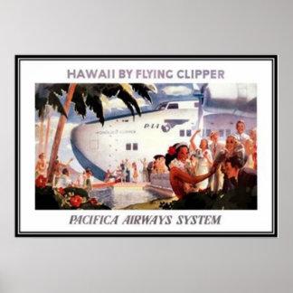 Vintages Hawaii USA - Plakatdruck