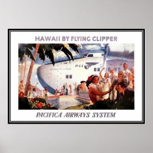 Vintages Hawaii, USA - Plakatdruck