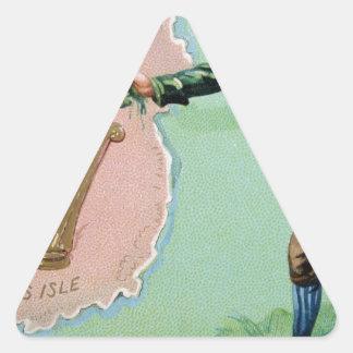 Vintages Heiligen Patrick Taginselplakat der erins Dreieckiger Aufkleber
