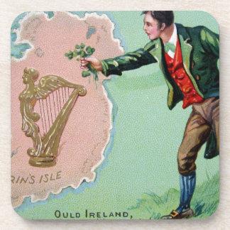 Vintages Heiligen Patrick Taginselplakat der erins Untersetzer