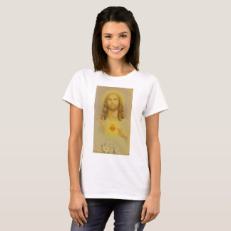 Vintages heiliges Herz von Jesus Christus T-Shirt