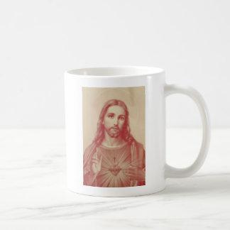 Vintages heiliges Herz von Jesus Kaffeetasse