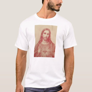 Vintages heiliges Herz von Jesus-T - Shirt