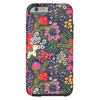 Vintages helles Blumenmuster starker iPhone 6 Fall Tough iPhone 6 Hülle