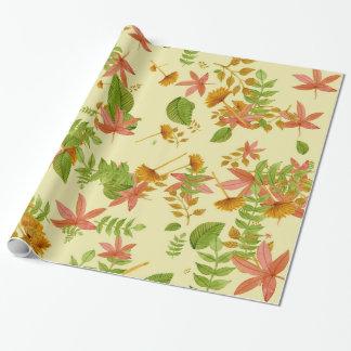 Vintages Herbstlaub Geschenkpapier
