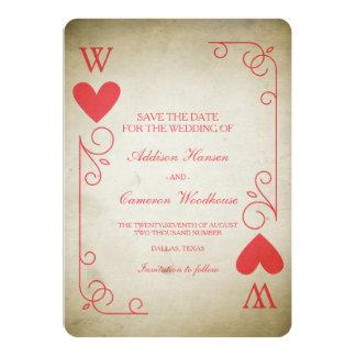 Vintages Herzass Save the Date 12,7 X 17,8 Cm Einladungskarte