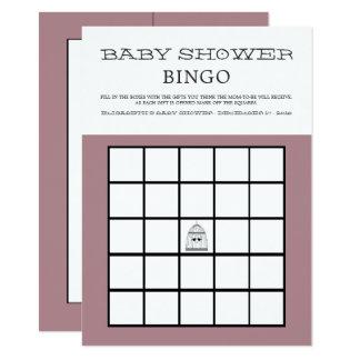 Vintages Herzbirdcage-Baby-Duschen-Bingo Karte