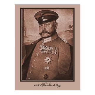 Vintages Hindenburg, Dekorationen, Autogramm Postkarte