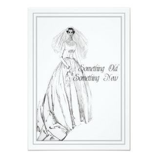Vintages Hochzeits-KleiderBrautparty etwas alt Karte
