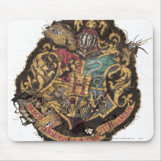 Vintages Hogwarts Wappen Harry Potter | Mousepad