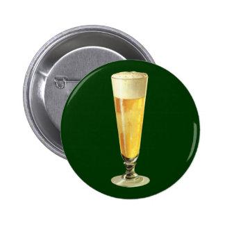 Vintages hohes eisiges Fassbier, Alkohol-Getränk Runder Button 5,7 Cm