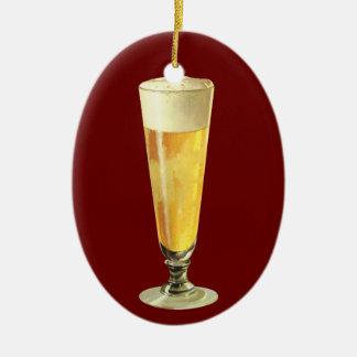 Vintages hohes eisiges Fassbier, Alkohol-Getränk Keramik Ornament