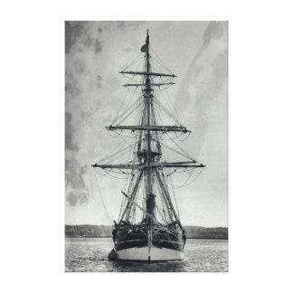 Vintages hohes Schiff Leinwanddruck