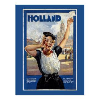 Vintages Holländer-Reise-Plakat Postkarte