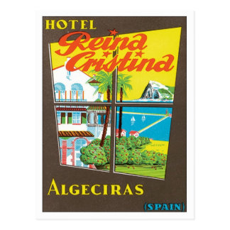 Vintages Hotel Algesiras Spanien Postkarte