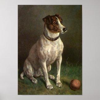 Vintages Hundebild-Plakat