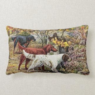 Vintages Hundesetzer-Triolumbar-Kissen Lendenkissen