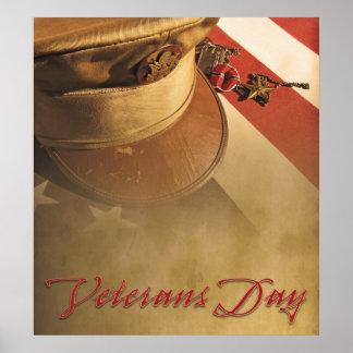 Vintages Hut-, Flaggen-und Poster